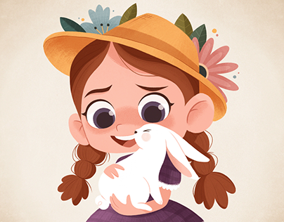 Girl with the bunny
