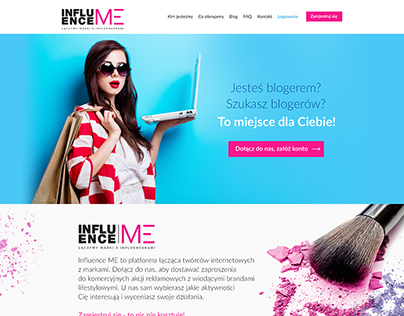 InfluenceMe - mini website