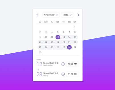 Date & Time Picker (Calendar)