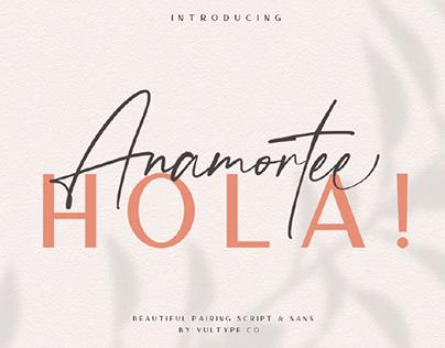 FREE   Anamortee Beautiful Script Font