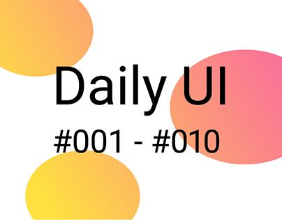Daily UI #001-#010