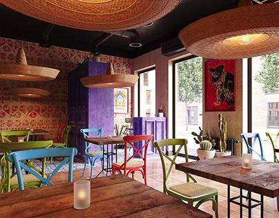 Mexico restaurant in Almaty, Kazakhstan.