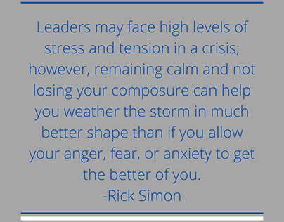 Leadership in Times of Crisis Quotes|Rick Simon Chicago