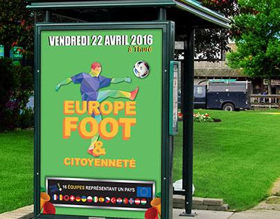 Affiche Europe Foot & Citoyenneté