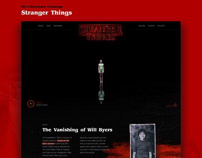 Stranger Things Website