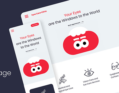 Landing Page for Eye Care Clinic