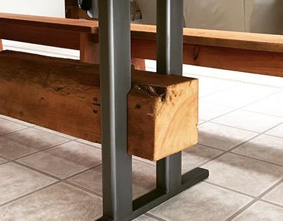 Farm Table in Steel & Reclaimed Pine
