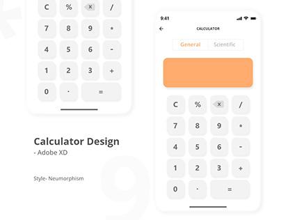 Daily UI-004 Calculator Design in Adobe XD