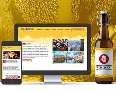 Bierverrückt: Logodesign & Webdesign for Travel Agency