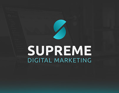 Supreme Digital Marketing   Concept Logo