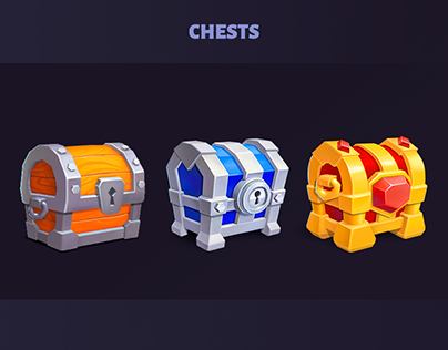 Treasure chests for game