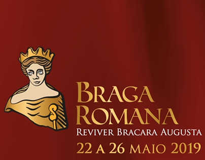 Animation to promote the party Braga Romana in Portugal