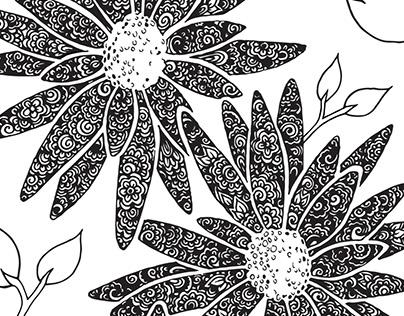 Floral Zentangle Designs