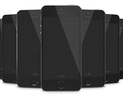 Template iPhone 5se Black PSD
