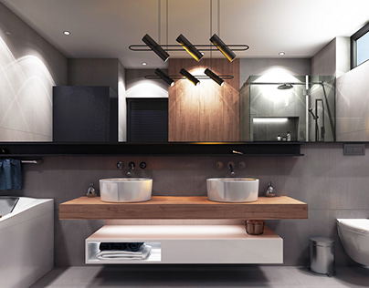 Villa's Bathroom in 5th settlement- Sodic, cairo