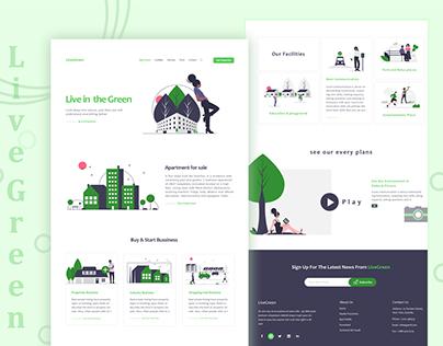 Live Green web design