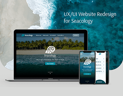 UX/UI Redesign - Seacology