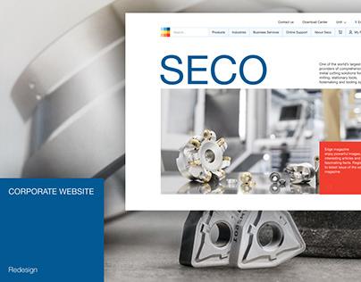 SECO – corporate website redesign
