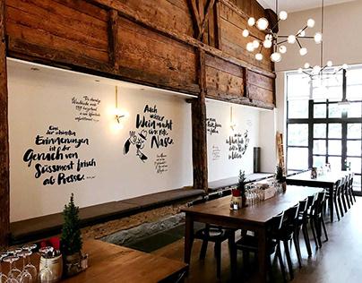 Zweifel Wall Design & Handlettering