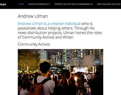 Andrew Ulman Personal Website