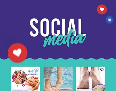 Social Media Blue Feet