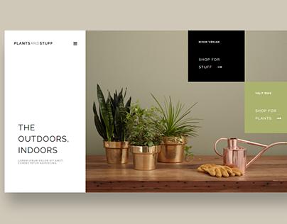 plants and stuff website design