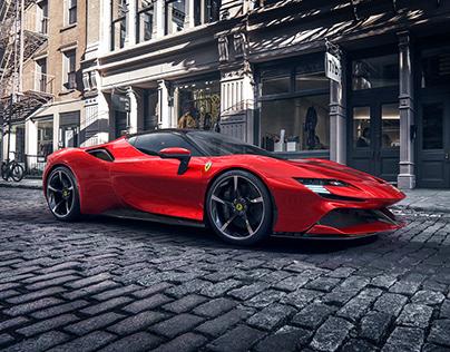 Ferrari SF90 Stradale 2021   CGI