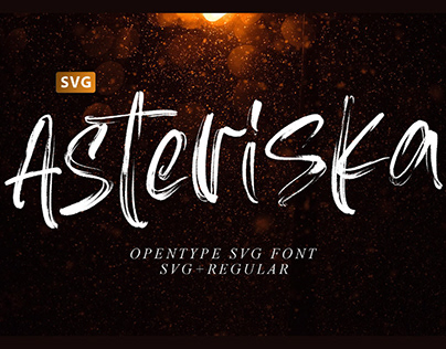 ASTERISKA - FREE TEXTURED BRUSH FONT