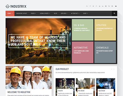 INDUSTRIX | Industrial theme