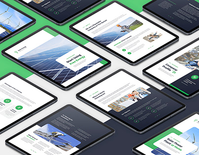 Solar Energy – Company Profile eBook Template