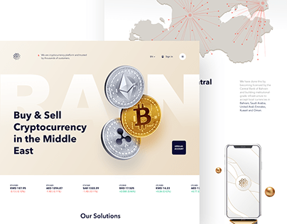 Cryptocurrency Trading Website Redesign Concept