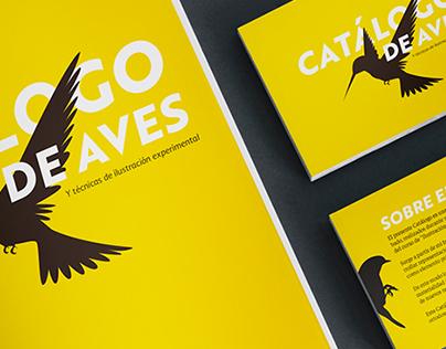 Catálogo de aves, Diseño editorial.