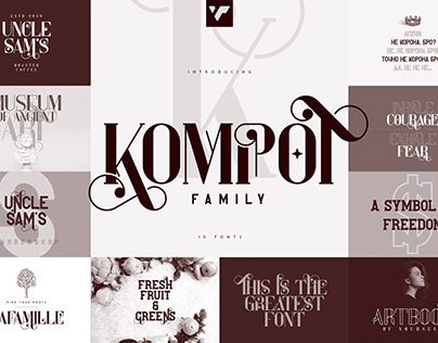 Kompot Display Family - 10 fonts