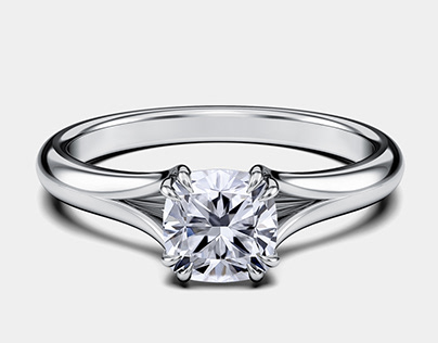 GS Diamonds Dalia Split Diamond Engagement Ring GIF