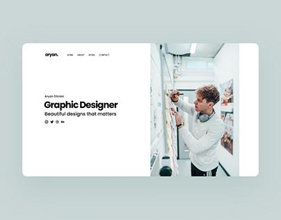 Professional Graphic Designer Website