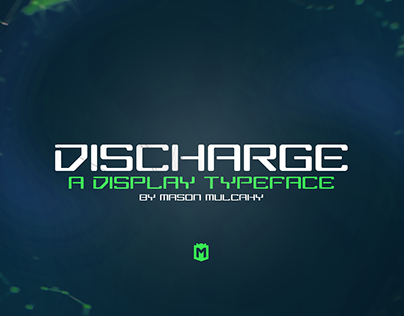 DISCHARGE - A Futurist Display Typeface