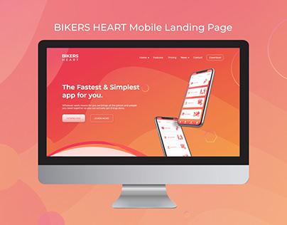 Bikers-Heart-landing-page - UI UX Design