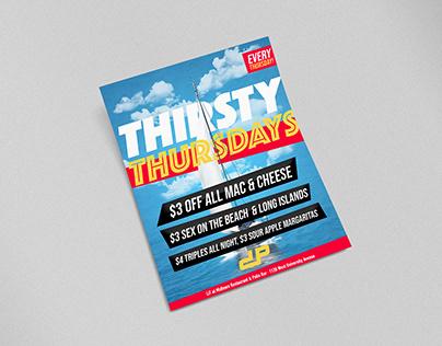 Thirsty Thursdays Flyer