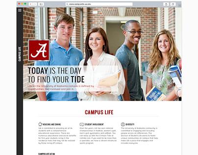 Campus Life Web Design