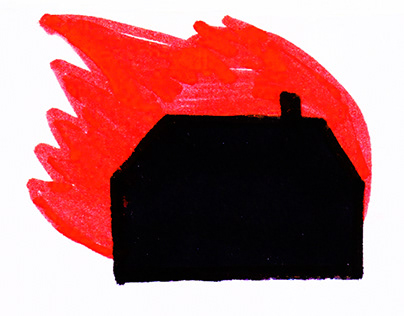 """Cartoon """"You came and burned down my home"""""""