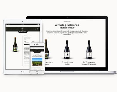 eCommerce design for chilean Family Vineyard