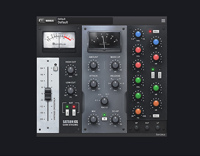 Satson Channel Strip VST plug-in User Interface Design