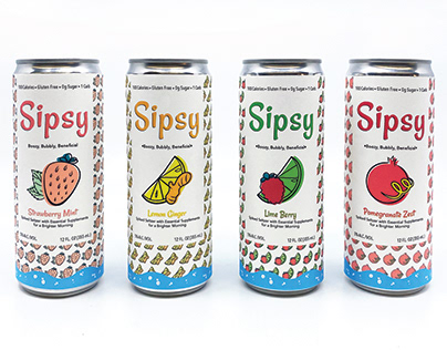 Sipsy Spiked Seltzer Beverage Design