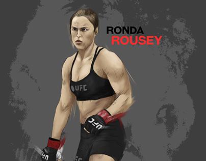 Ronda Rousey Illustration