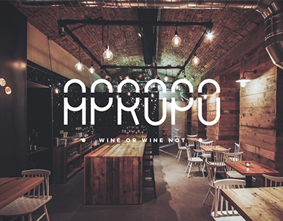 APROPÓ wine & tapas bar - interior design / 2015 on Behance