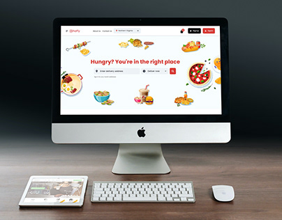 Web Portal Design for Food Delivery Company