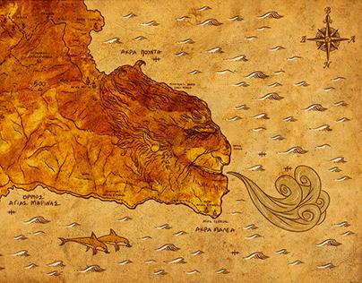 GREECE - CAPE MALEAS MAP