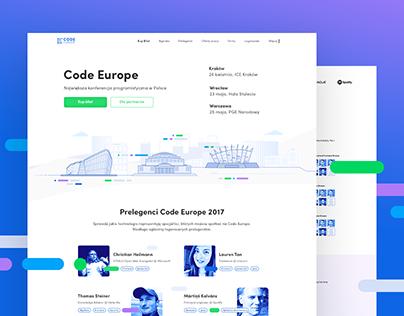 Code Europe Branding & Website Design