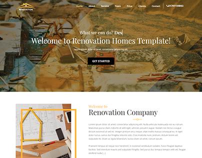 Construction Agency Website Template Design
