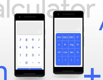 Minimal Calculator App UI